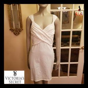 VICTORIAS SECRET PURE WHITE BRA TOP TWIST DRESS